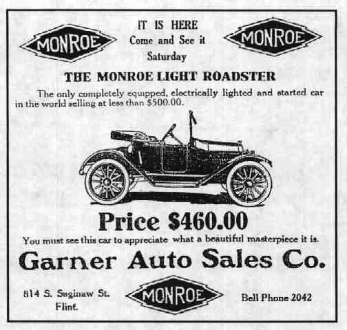1915-16 Monroe Newapaper Advertisement